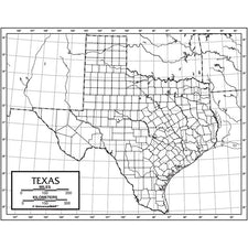 Texas Outline Map, 50 Pack (Laminated)