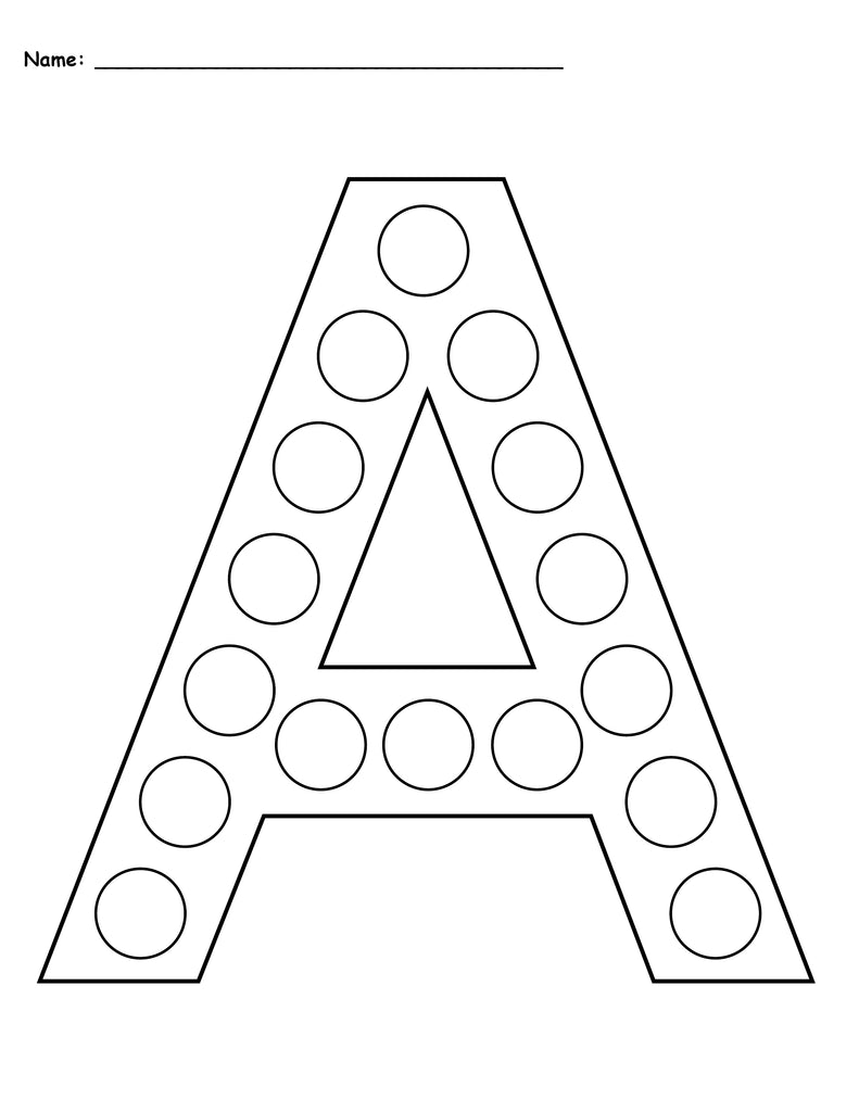 image relating to Printable Letter a referred to as Absolutely free Letter A Do-A-Dot Printables - Uppercase Lowercase