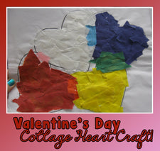 Valentine's Day Heart Collage Craft w/ FREE Template!