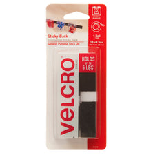 "VELCRO® Brand Sticky Back 18"" x 3/4"" Tape, 1 Roll, Black"