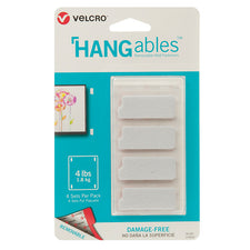 "VELCRO® Brand HANGables™ Removable Wall Fasteners, 1-3/4"" x 3/4"" (4 Count)"