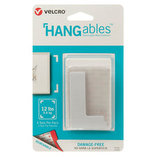 "VELCRO® Brand HANGables™ Removable Wall Fasteners, 3"" x 1-3/4"" Corners (4 Count)"