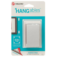 "VELCRO® Brand HANGables™ Removable Wall Fasteners, 3"" x 1-3/4"" (8 Count)"