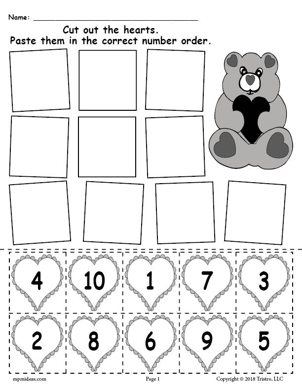 picture about Valentines Puzzles Printable referred to as No cost Printable Valentines Working day Hearts Amount Buying