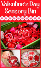 Valentine's Day Themed Sensory (and Imagination!) Bin