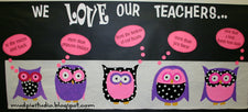 We Love Our Teachers! - Valentine's Day Bulletin Board