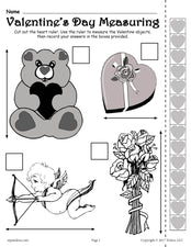 Printable Valentine's Day Measuring Activity!