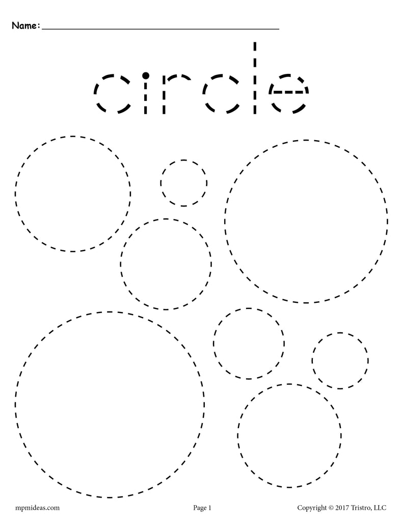 FREE Circles Tracing Worksheet