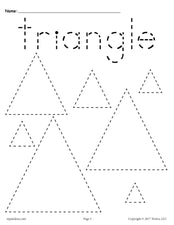 FREE Triangles Tracing Worksheet