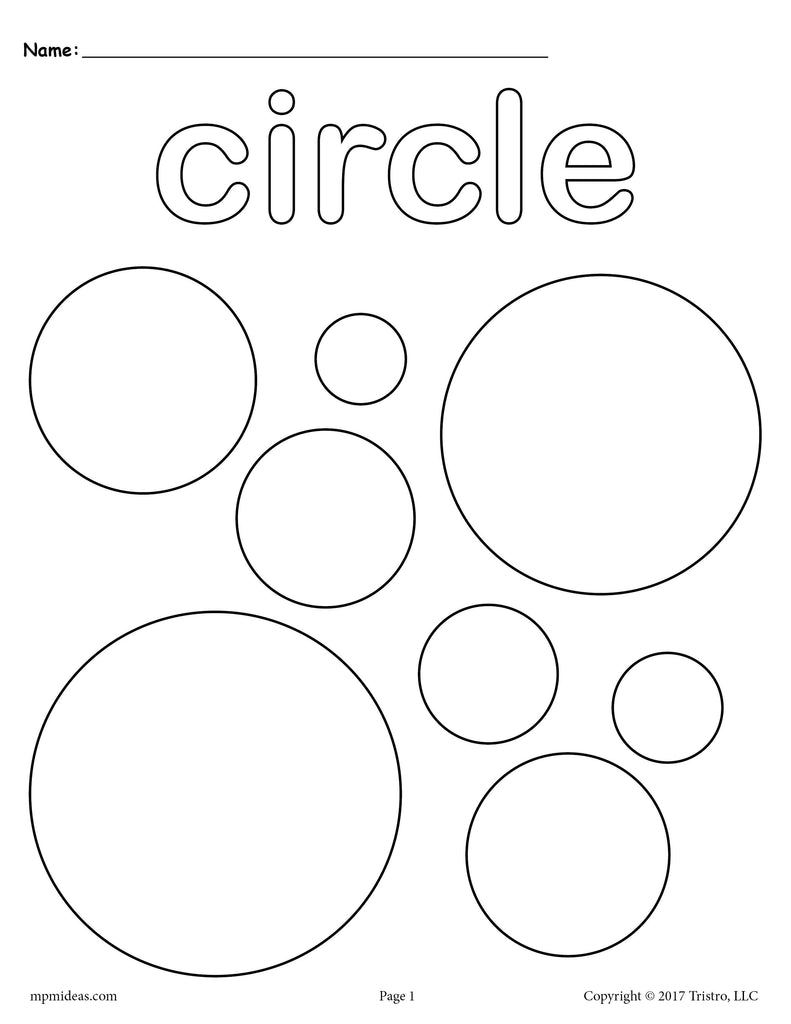 FREE Circles Coloring Page Circle Shape Worksheet SupplyMe