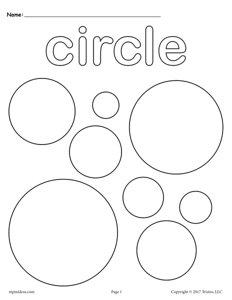 FREE Circles Coloring Page - Circle Shape Worksheet