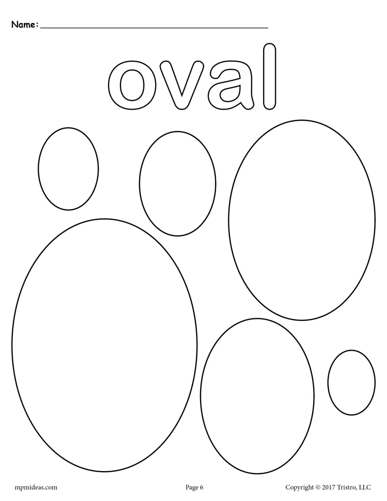 FREE Ovals Coloring Page