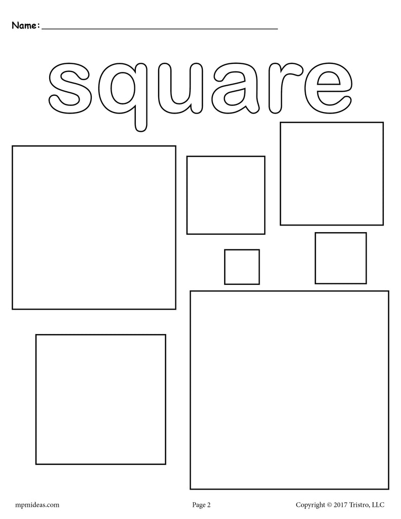 Squares Coloring Page