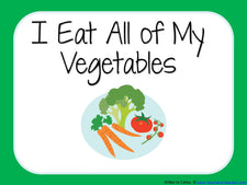 """I Eat All of My Vegetables"" Early Reader"