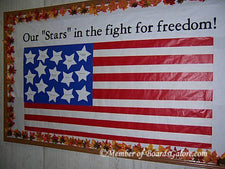 """Our Stars in the Fight for Freedom"" - Veteran's Day Bulletin Board Idea"