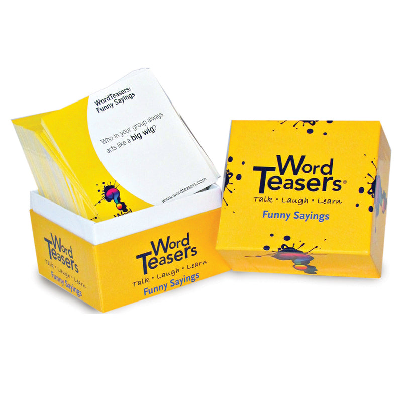 Word Teasers Flash Cards Funny Sayings