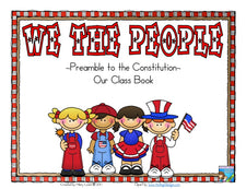 We The People - A Class Book for Constitution Day!