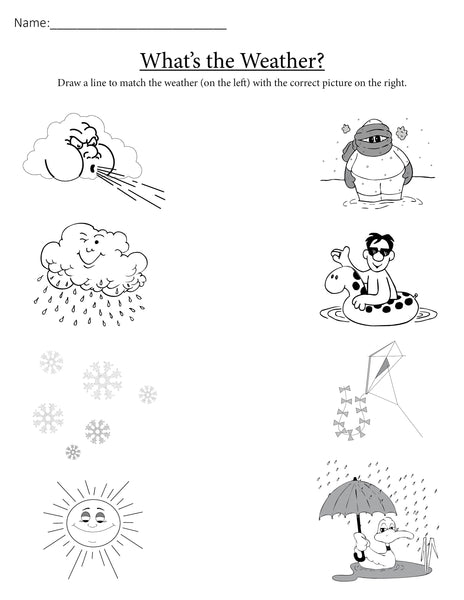 It is an image of Sassy Free Printable Weather Worksheets