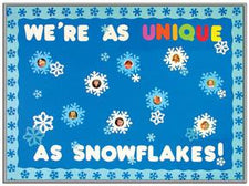 We're As Unique As Snowflakes Winter Bulletin Board Idea