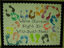 Back-To-School Footprint Fun Bulletin Board Idea!