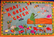 What A Great Catch - Spring & Summer Fishing Bulletin Board Idea