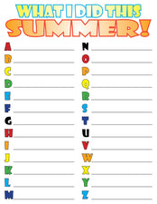 """What I Did This Summer"" FREE Printable Back-to-School Worksheets"