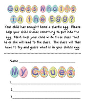 Easter Literacy & Critical Thinking - What's in the Egg?