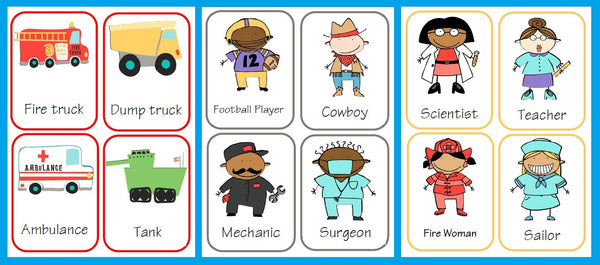 Transportation and Occupations Flash Cards - SupplyMe
