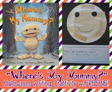 """Where's My Mummy?"" Halloween Writing Craftivity with FREEBIE!"