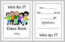 Who Am I? - Back To School Class Book