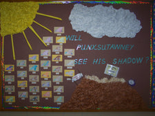 """Will Phil See His Shadow?"" - Groundhog Day Bulletin Board"