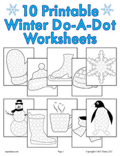 10 Winter Do-A-Dot Printables!