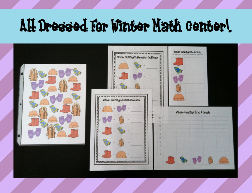 All Dressed For Winter! Math Center Activities
