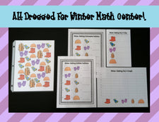 """All Dressed For Winter!"" Math Center Activities"