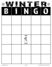 Winter Bingo - Printable Game!