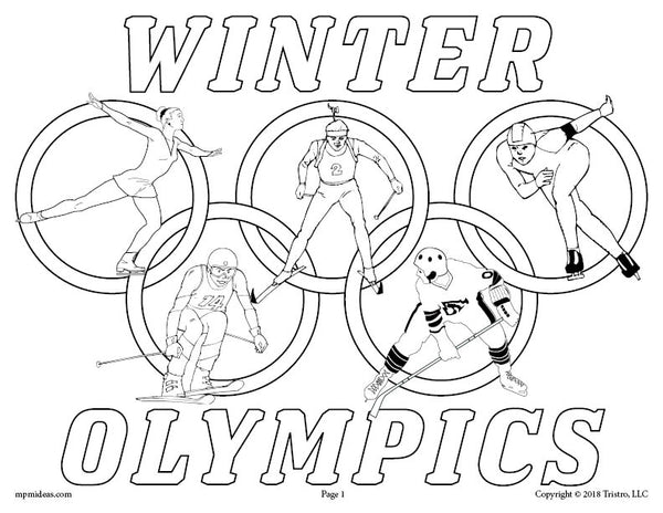 FREE Printable Winter Olympics Coloring Page!