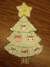 Winter Literacy Center - Word Family Christmas Trees