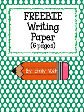 FREE Printable Writing Paper!