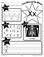 FREE Letter X Worksheet: Tracing, Coloring, Writing & More!