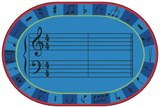 A-Sharp Music KID$ Value PLUS Discount Classroom Carpet, 6' x 9' Oval