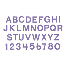 Sizzix® Bigz™ Die Set - Block Alphabet, Capital Letters & Numbers, 1 1/2""