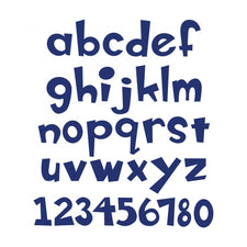 Sizzix® Bigz™ X-Large Die - Boss-O!™ Alphabet, Lowercase Letters & Numbers, 1 1/2""