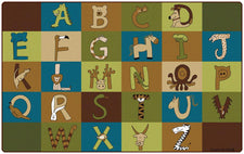 "A To Z Animals – Nature, 7'6"" x 12' Rectangle"