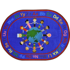 "A World of Friends™ Circle Time & Seating Rug, 5'4"" x 7'8"" Rectangle"