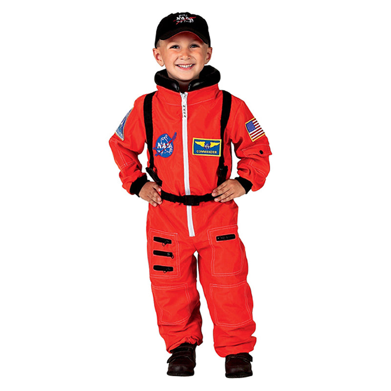 Orange NASA Astronaut Suit with Hat, Size 4/6