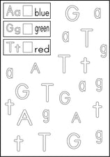 Alphabet Fun - Color the Letters
