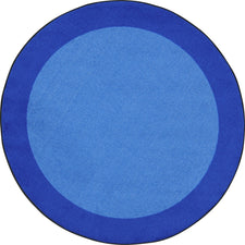 "All Around™ Blue Classroom Carpet, 7'7"" Round"