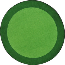 "All Around™ Green Classroom Carpet, 7'7"" Round"