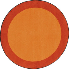 "All Around™ Orange Classroom Carpet, 7'7"" Round"