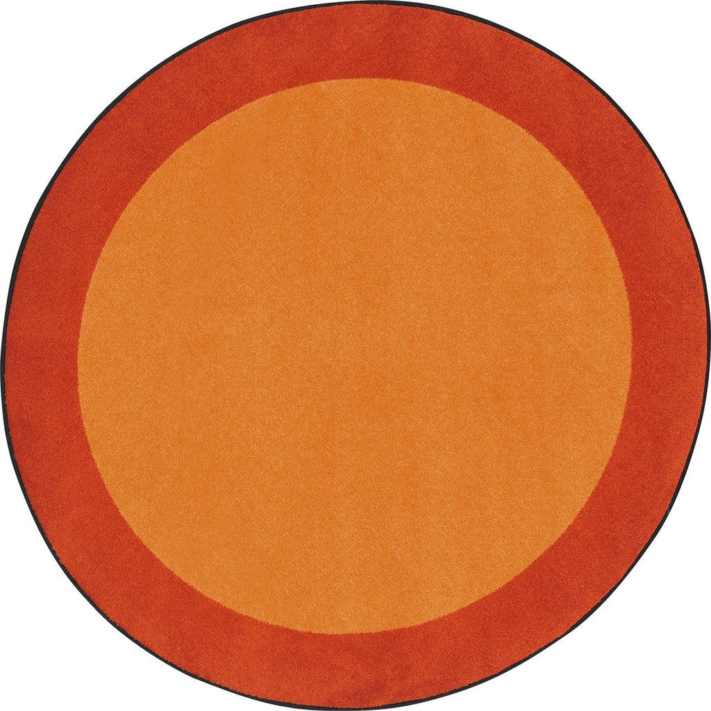 "All Around™ Orange Classroom Carpet, 5'4"" Round"
